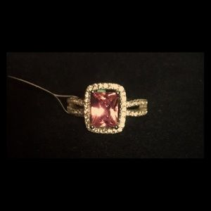 Pink Sapphire Ring in Sterling Silver, size 6